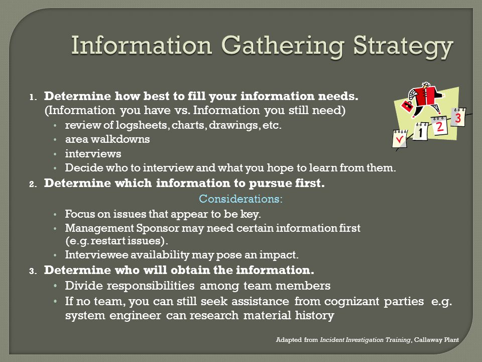 Information Gathering Strategy