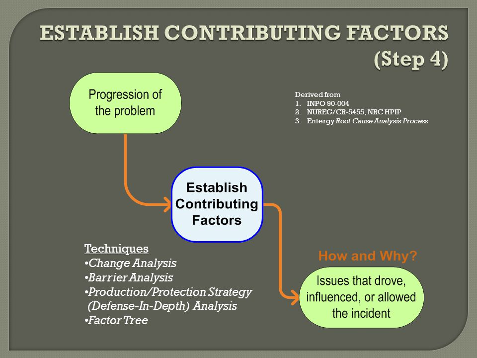 ESTABLISH CONTRIBUTING FACTORS (Step 4)