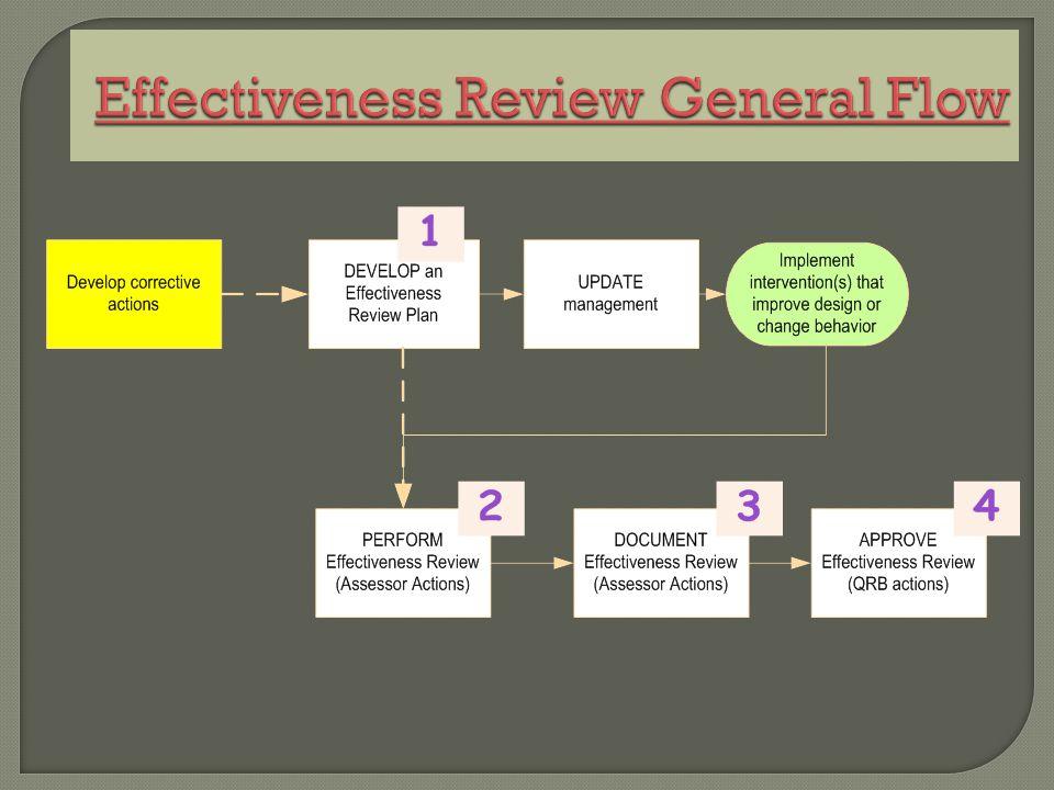 Effectiveness Review General Flow