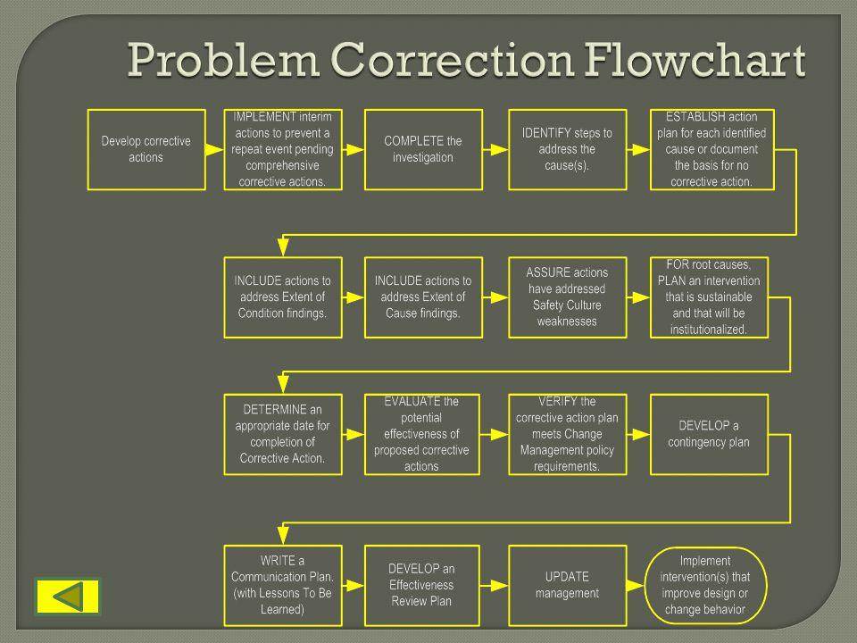 Problem Correction Flowchart