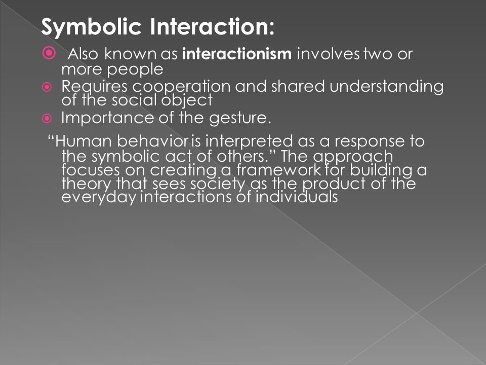 Symbolic Interaction: