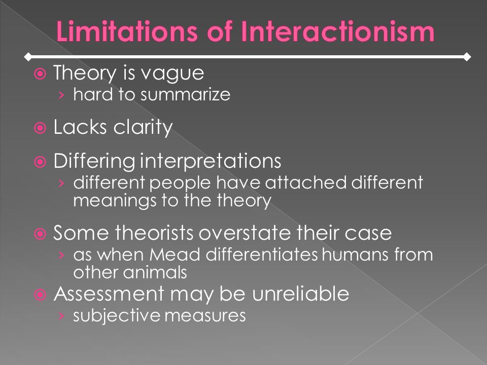 Limitations of Interactionism