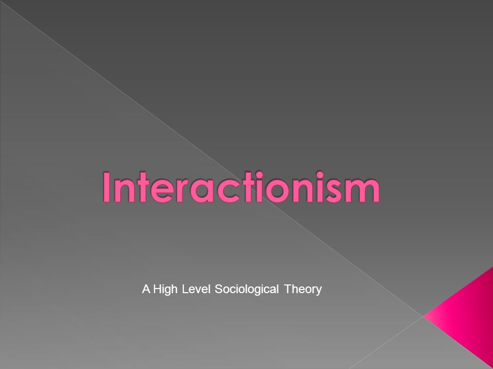 A High Level Sociological Theory
