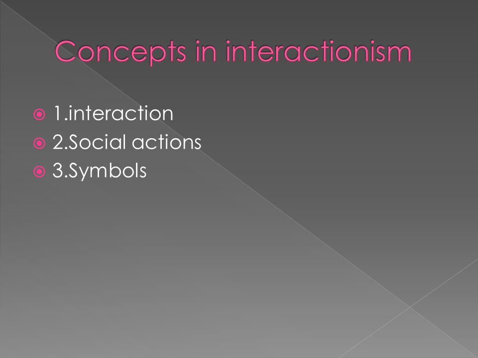 Concepts in interactionism