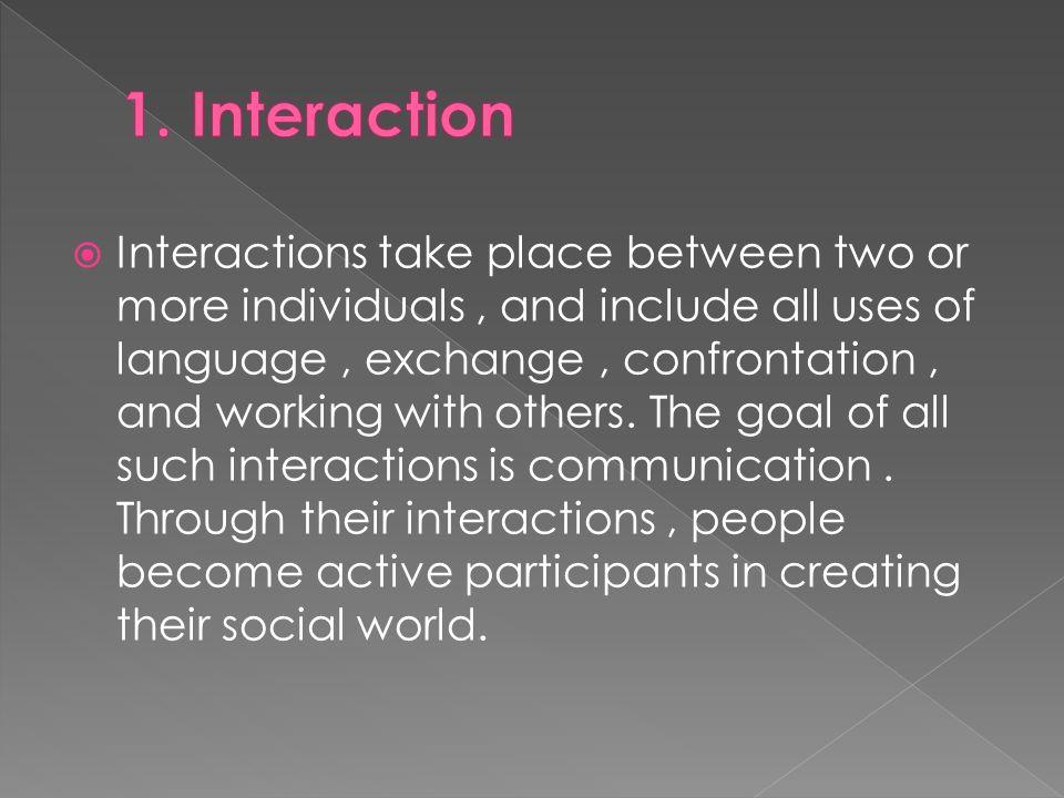 1. Interaction
