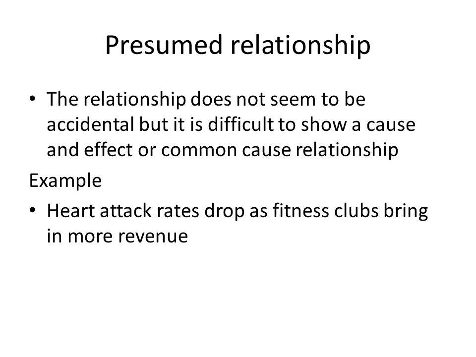 Presumed relationship