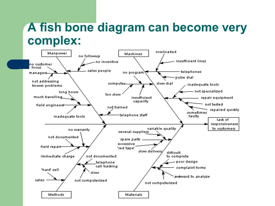 A fish bone diagram can become very complex: