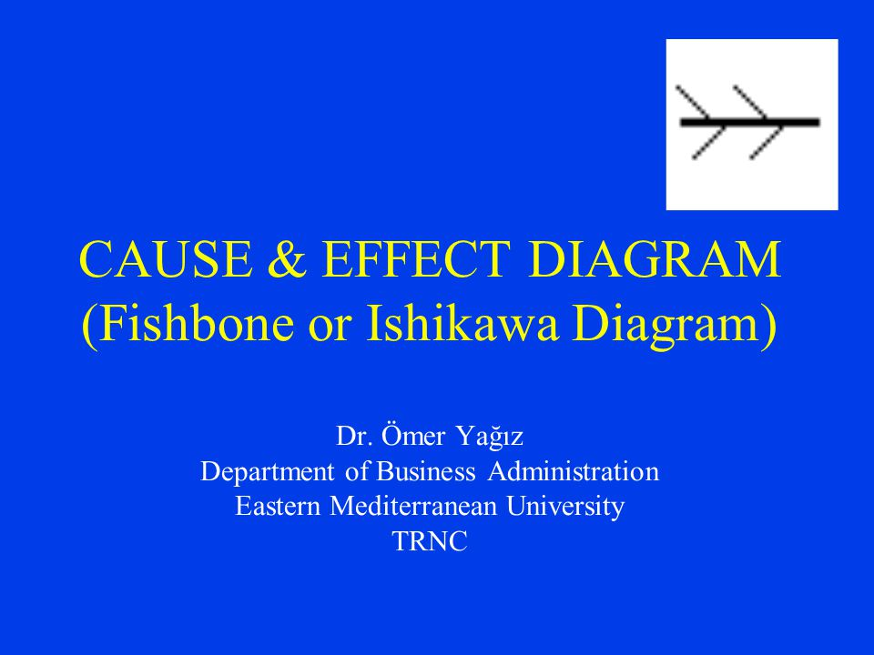 CAUSE & EFFECT DIAGRAM (Fishbone or Ishikawa Diagram) Dr