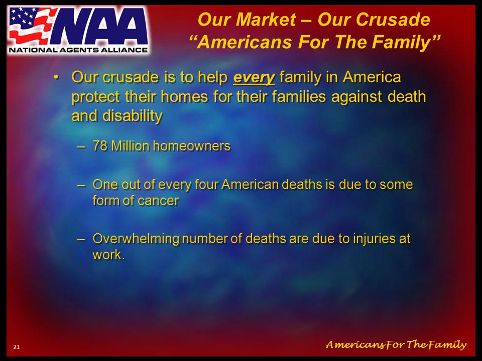 Our Market – Our Crusade Americans For The Family