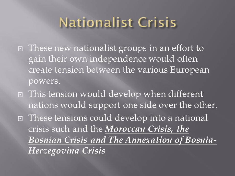Nationalist Crisis