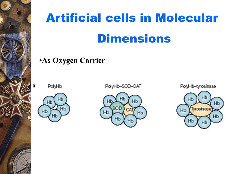 Artificial cells in Molecular