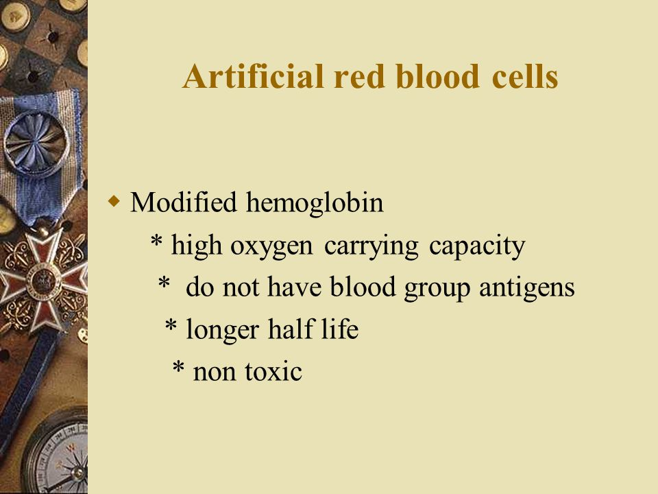 Artificial red blood cells