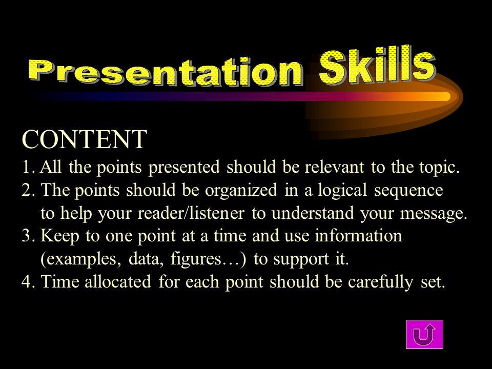 CONTENT Presentation Skills
