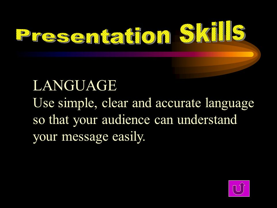 LANGUAGE Use simple, clear and accurate language