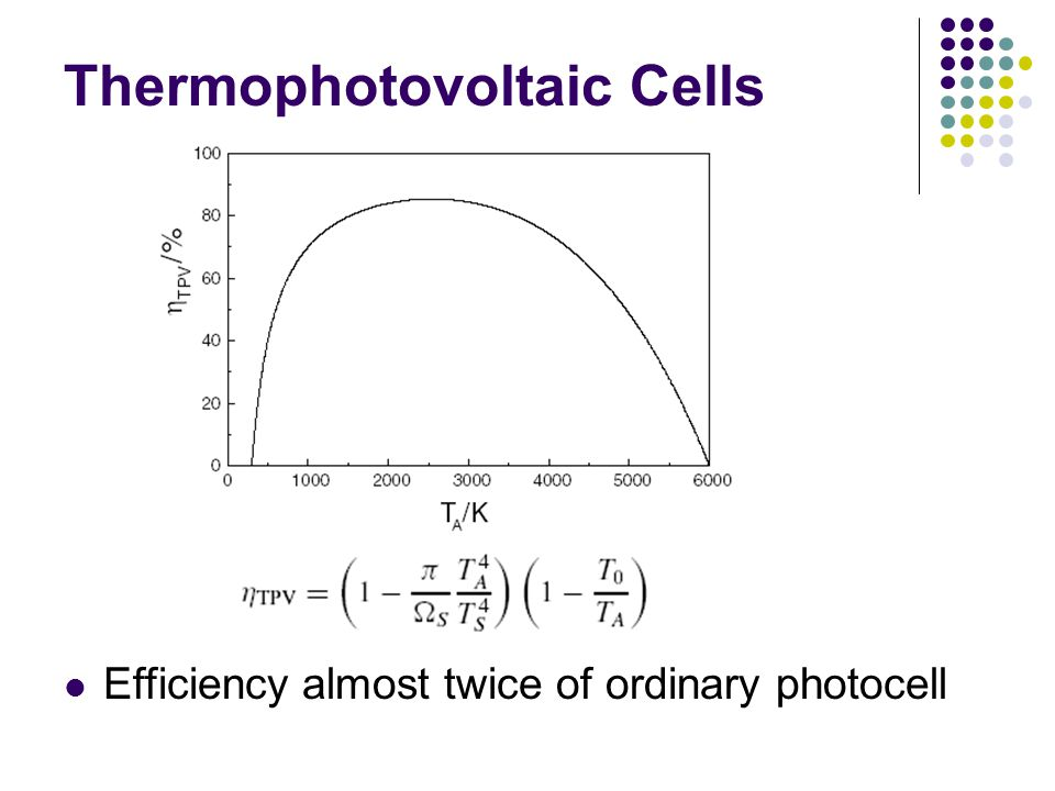 Thermophotovoltaic Cells