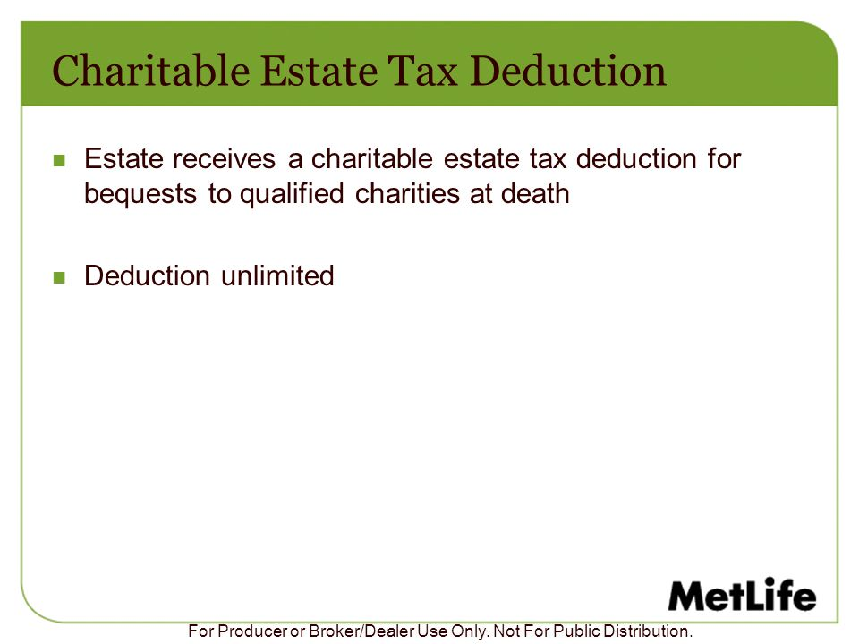 Charitable Estate Tax Deduction