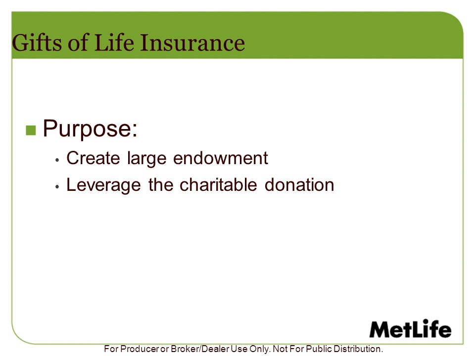 Gifts of Life Insurance