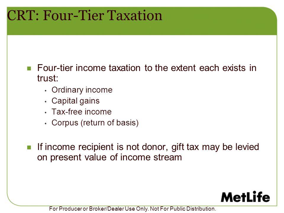 CRT: Four-Tier Taxation