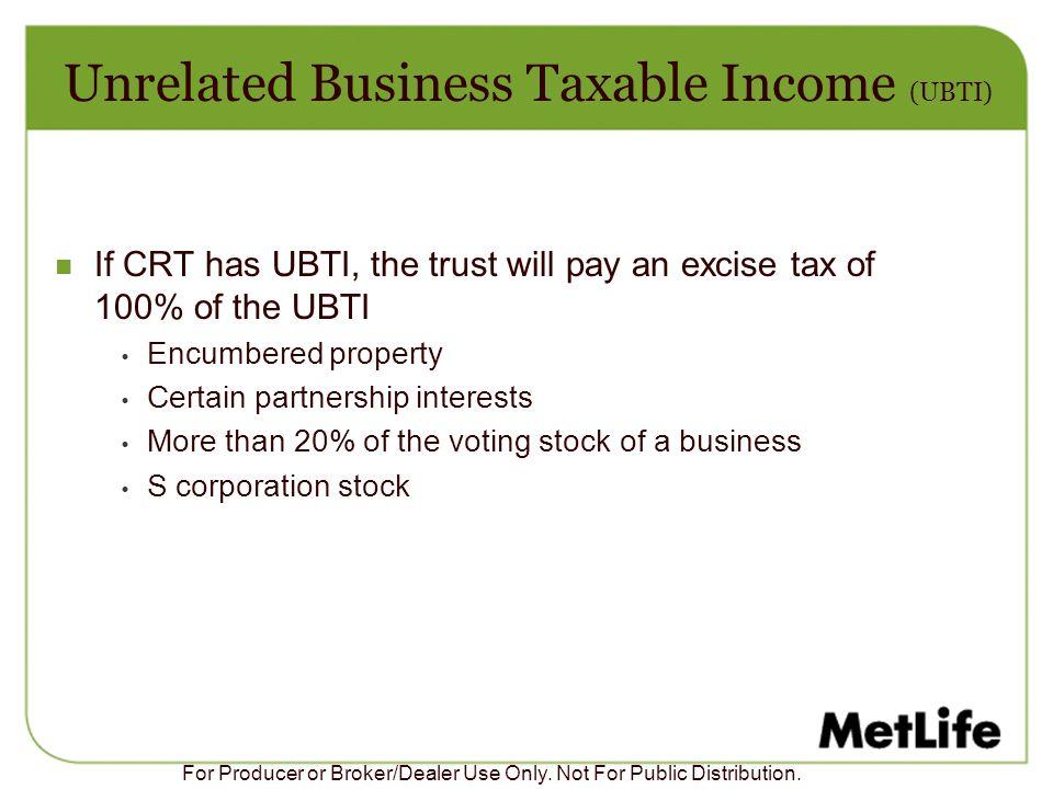 Unrelated Business Taxable Income (UBTI)