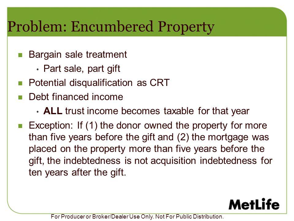 Problem: Encumbered Property