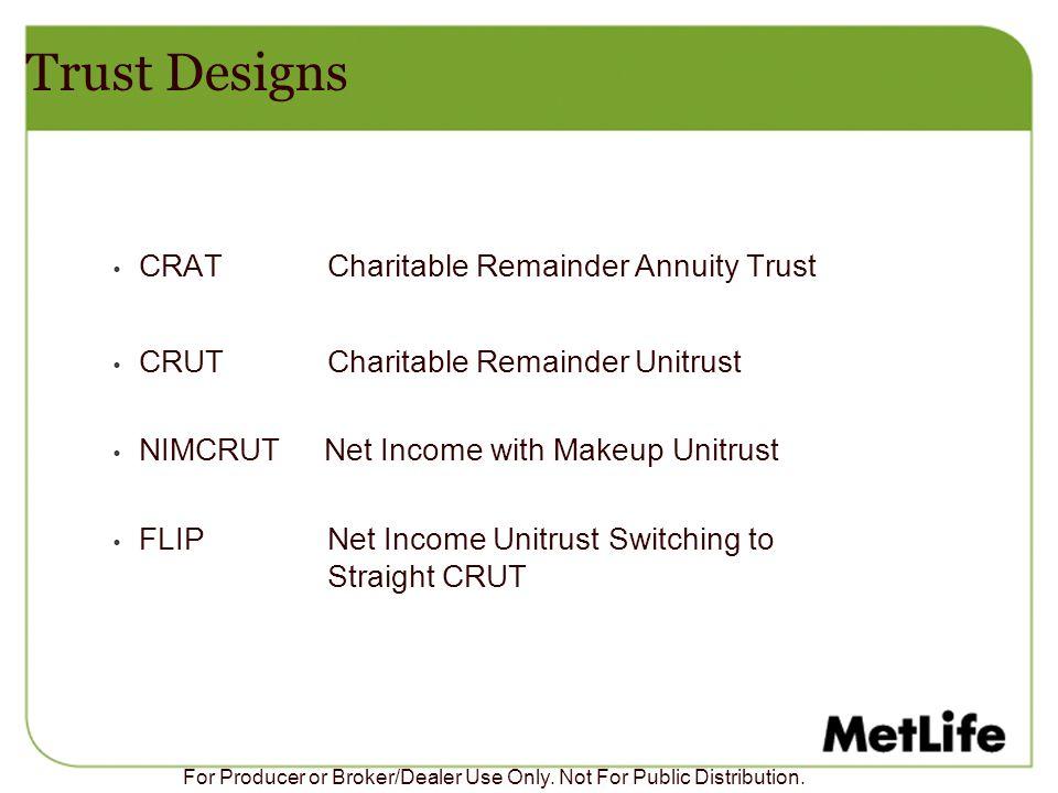 Trust Designs CRAT Charitable Remainder Annuity Trust