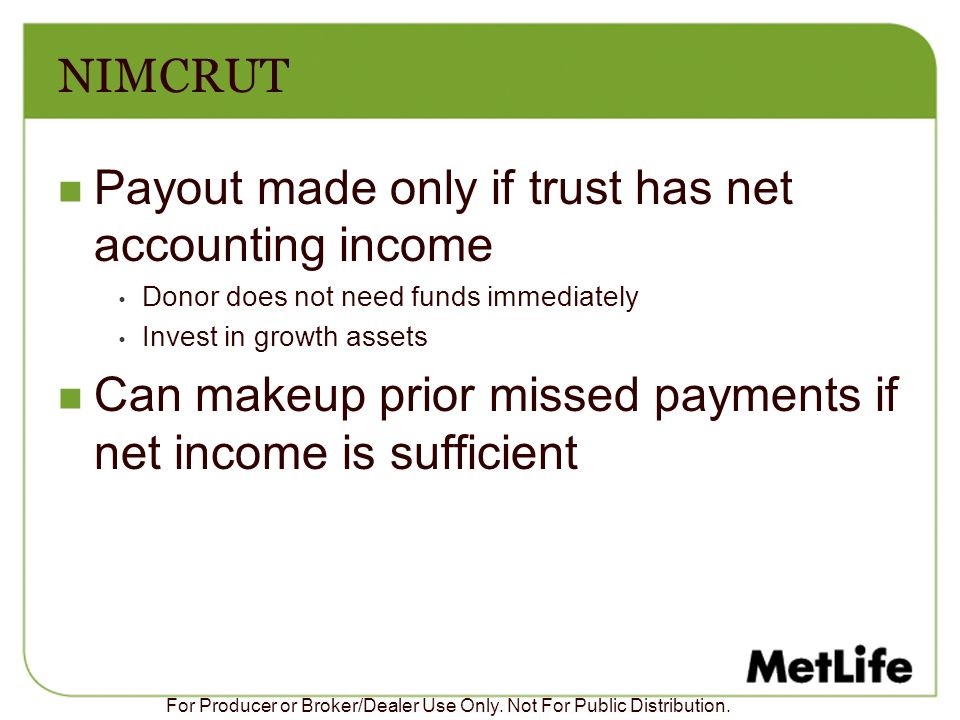 Payout made only if trust has net accounting income