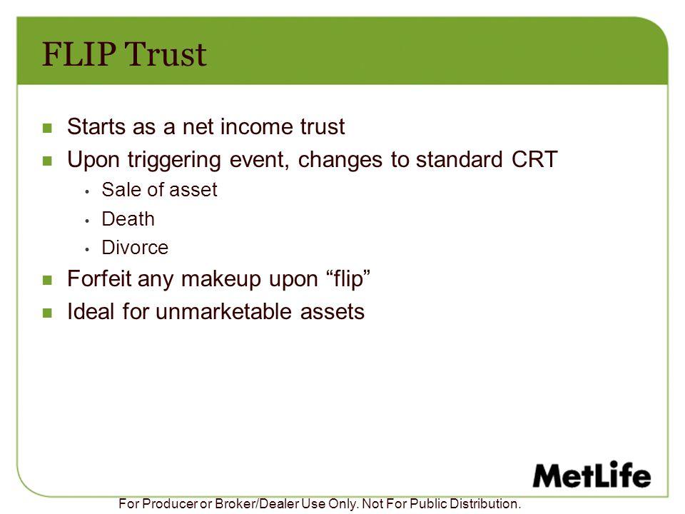 FLIP Trust Starts as a net income trust