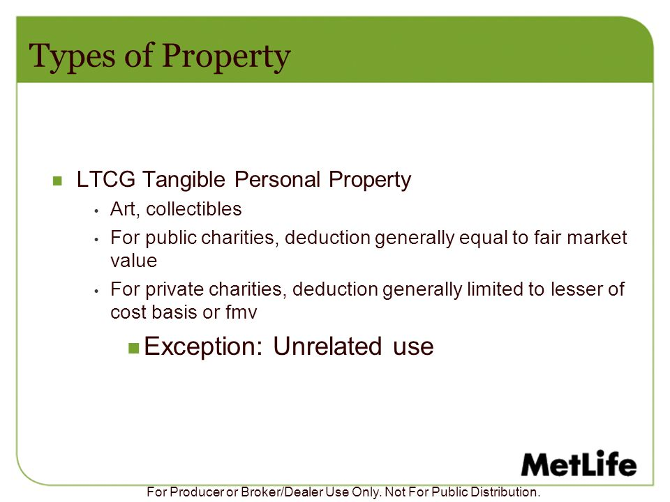 Types of Property Exception: Unrelated use