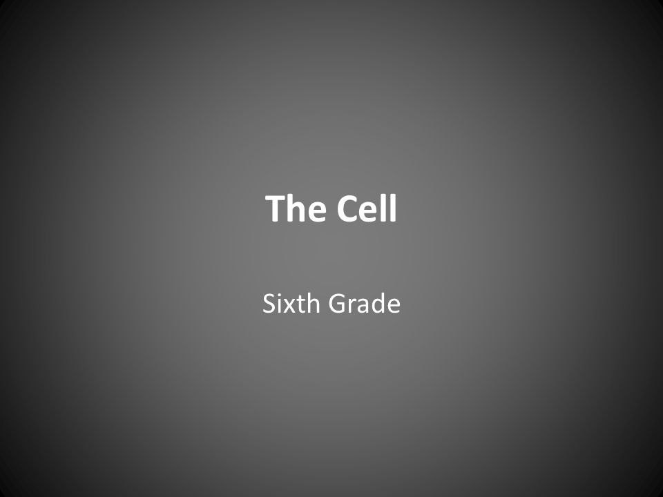 The Cell Sixth Grade