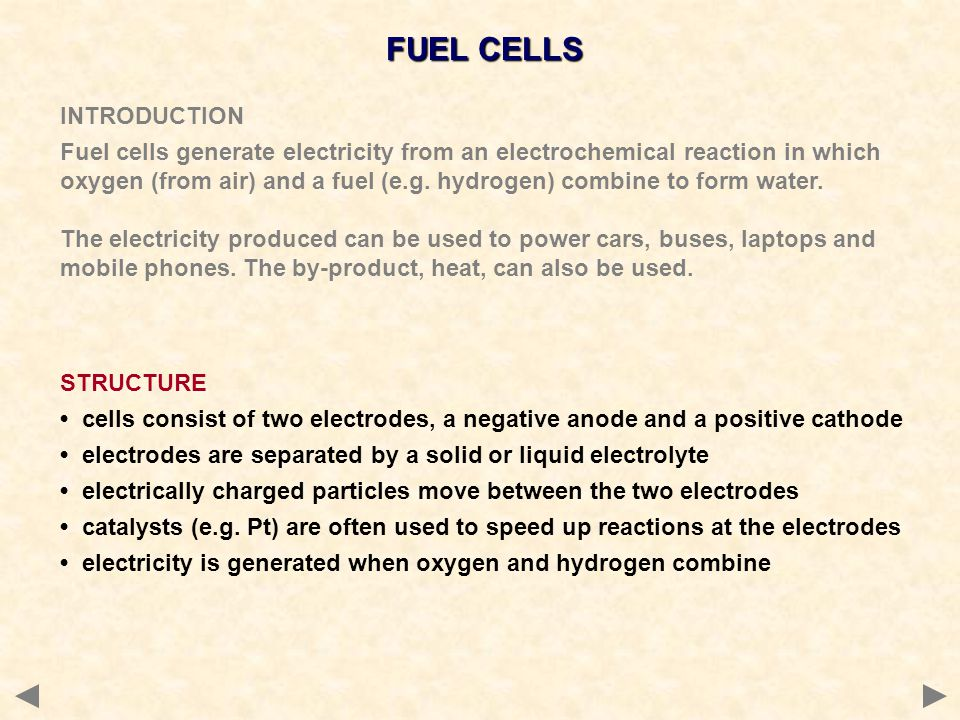 FUEL CELLS INTRODUCTION