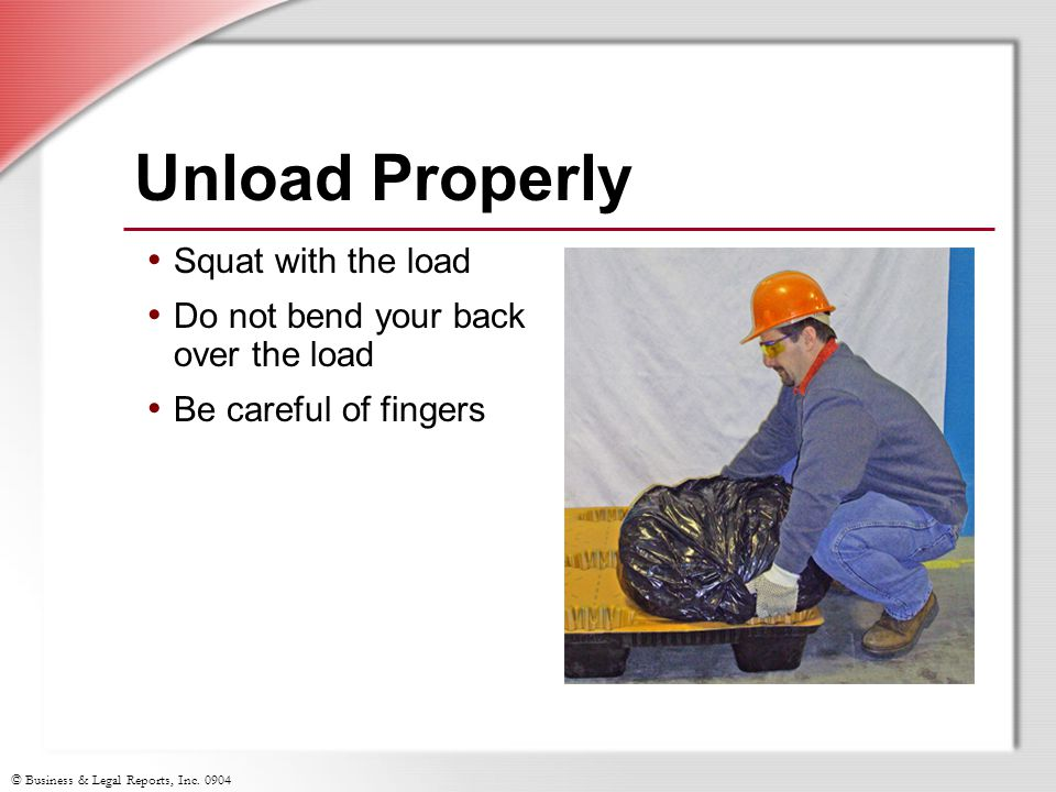 Unload Properly Squat with the load