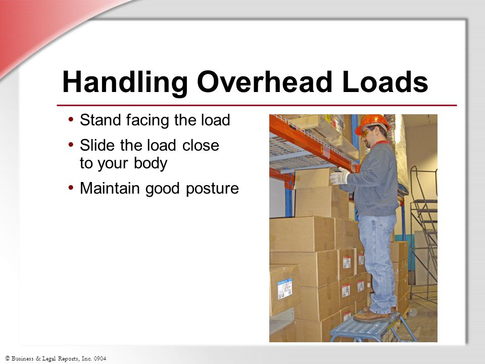 Handling Overhead Loads