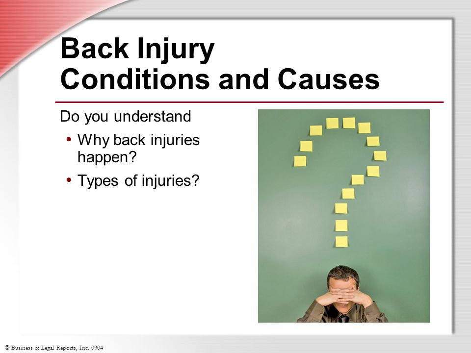 Back Injury Conditions and Causes
