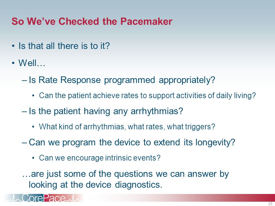 So We've Checked the Pacemaker