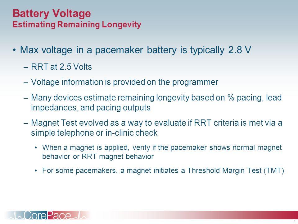 Battery Voltage Estimating Remaining Longevity