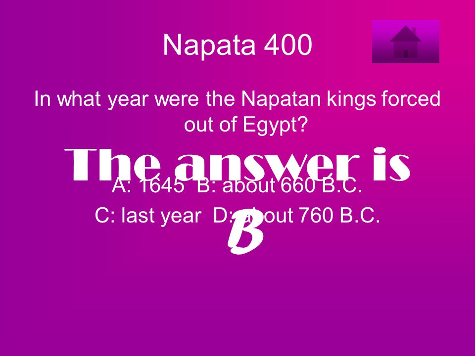 In what year were the Napatan kings forced out of Egypt