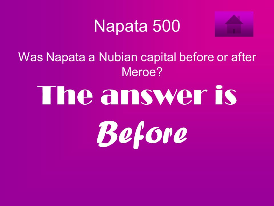 Was Napata a Nubian capital before or after Meroe