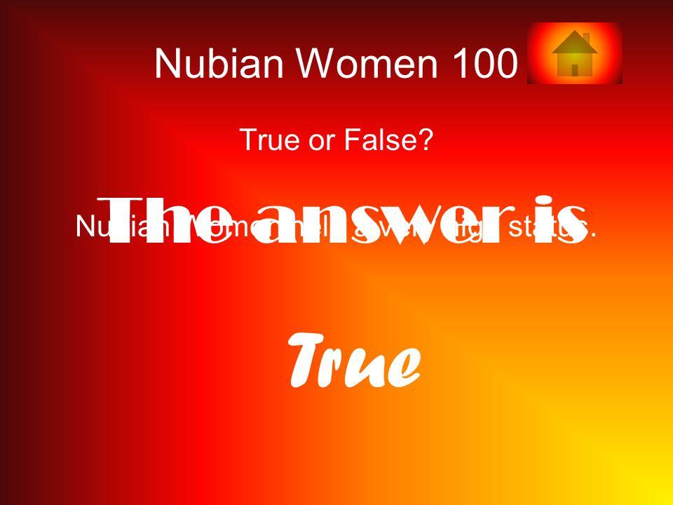 Nubian Women held a very high status.