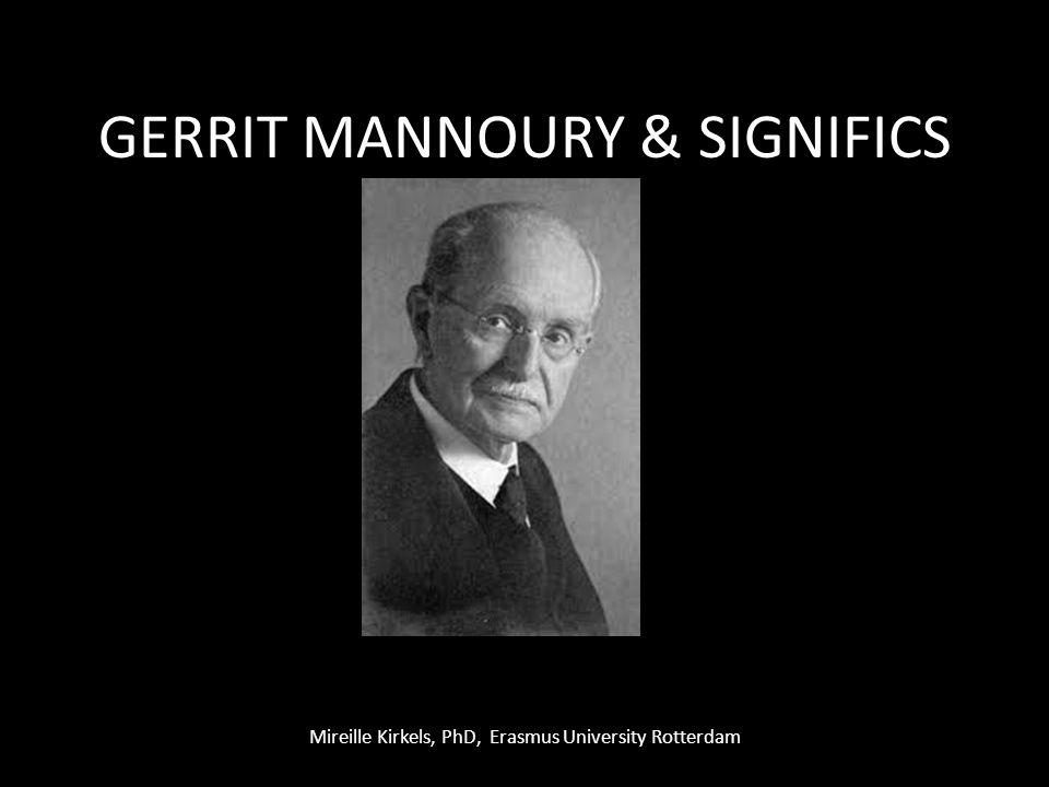 GERRIT MANNOURY & SIGNIFICS