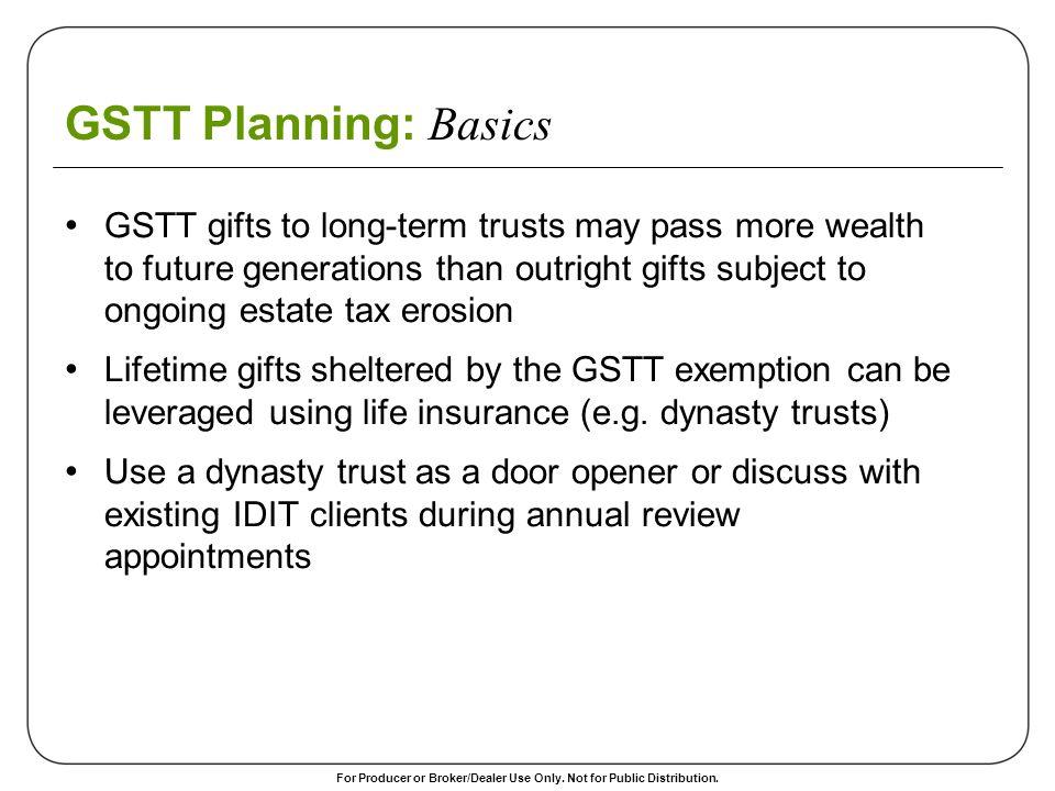 GSTT Planning: Basics