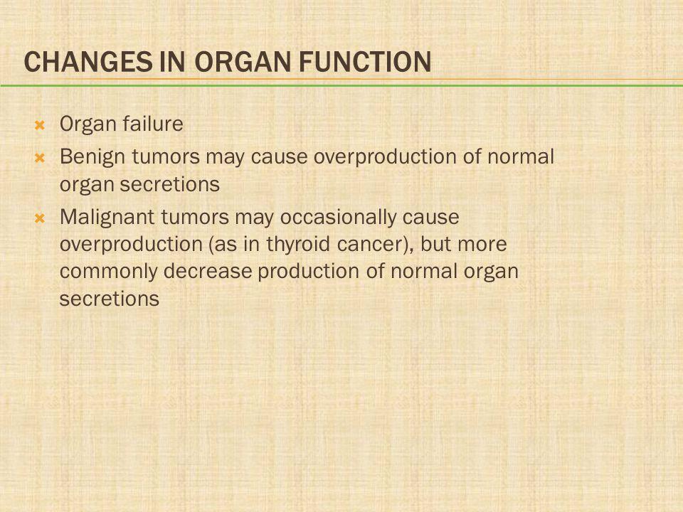 Changes in Organ Function