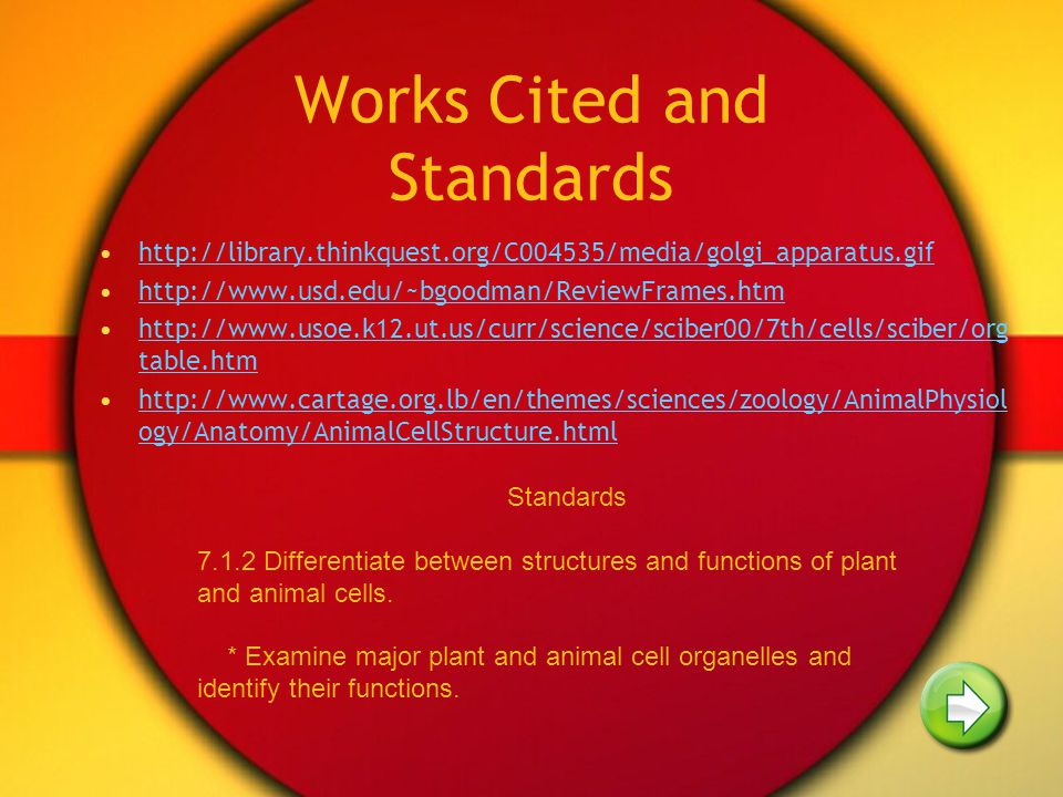 Works Cited and Standards