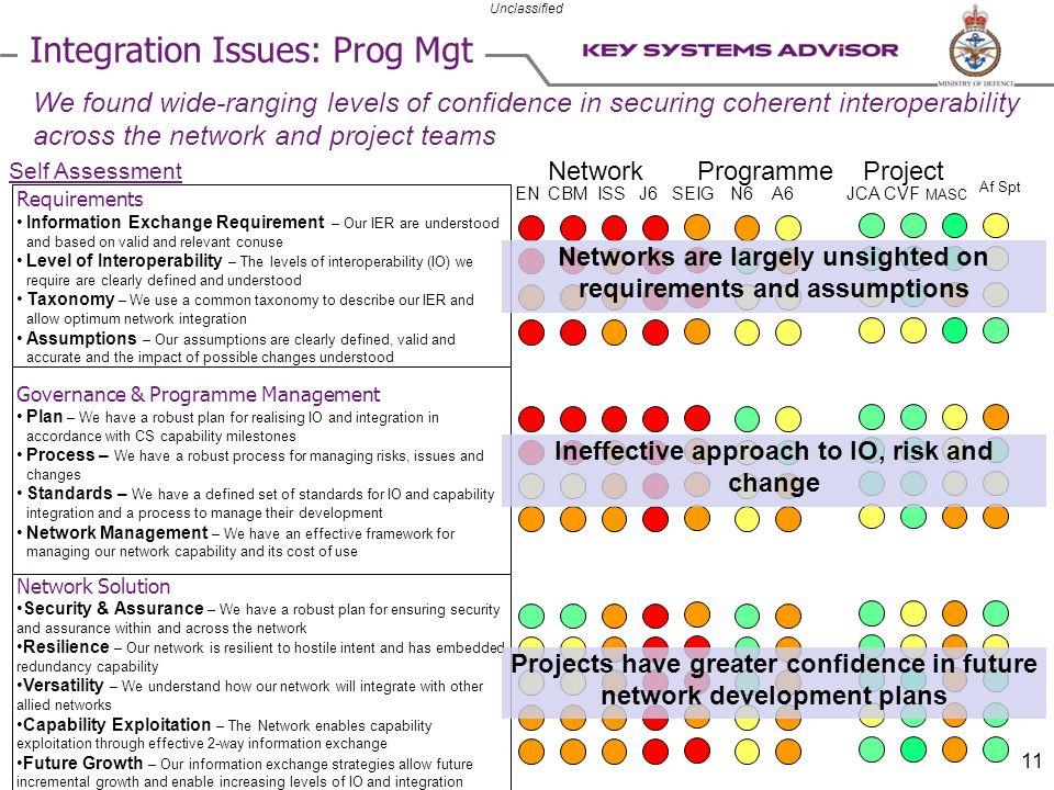Integration Issues: Prog Mgt