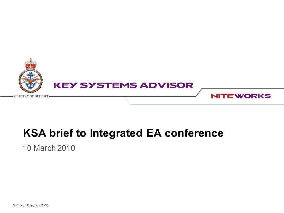 KSA brief to Integrated EA conference