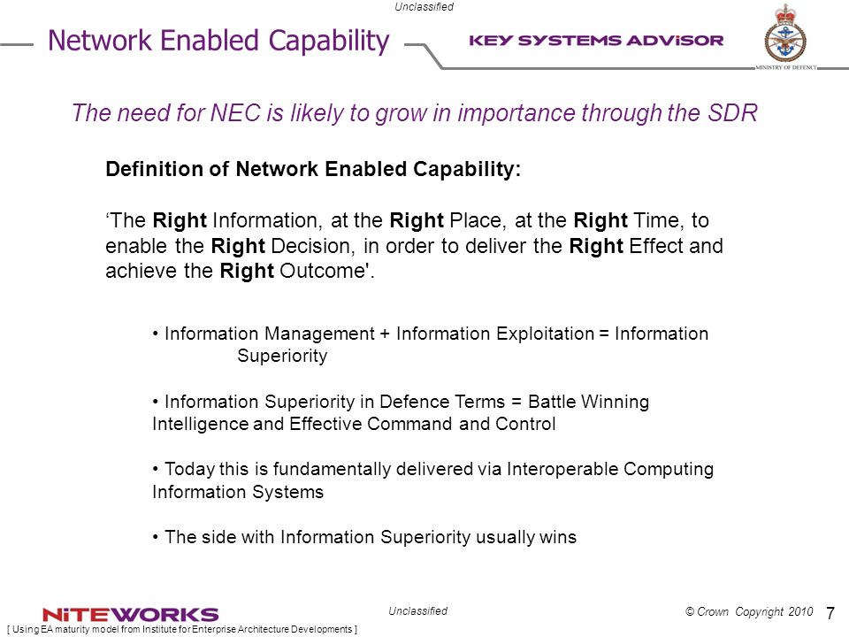 Network Enabled Capability