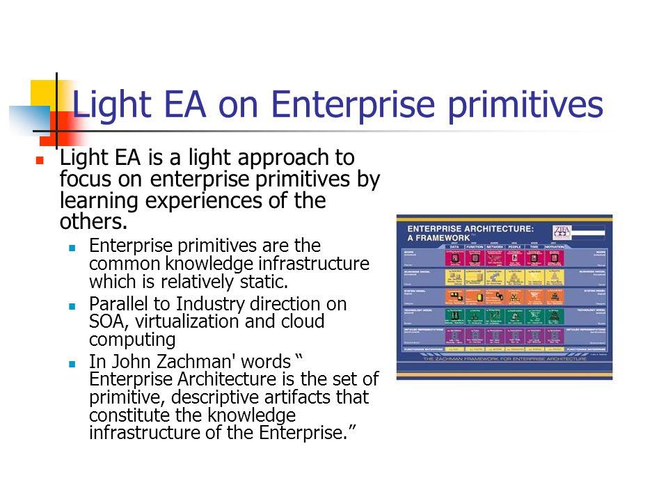 Light EA on Enterprise primitives