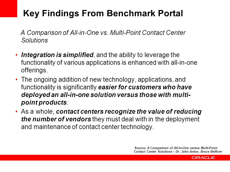 Key Findings From Benchmark Portal