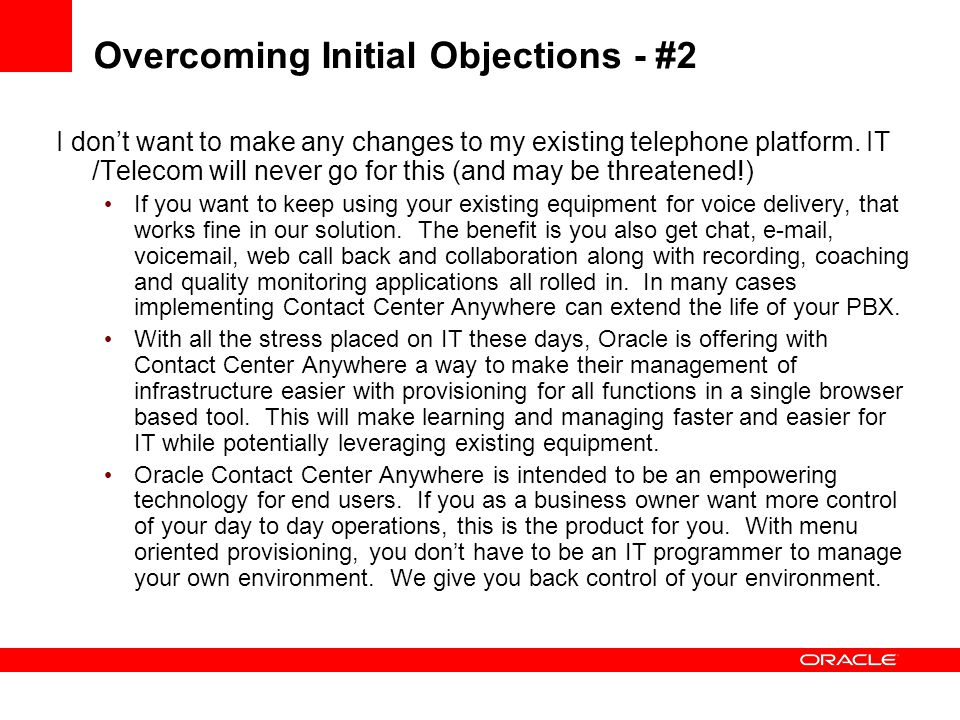 Overcoming Initial Objections - #2