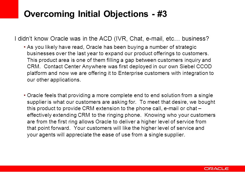 Overcoming Initial Objections - #3