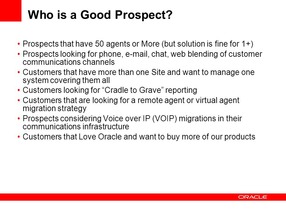 Who is a Good Prospect Prospects that have 50 agents or More (but solution is fine for 1+)